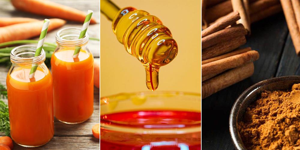 Mặt nạ cà rốt, quế và mật ong trị mụn