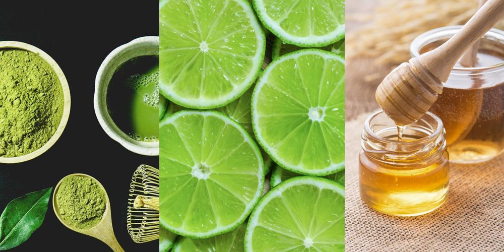 Mặt nạ trà xanh, mật ong và nước cốt chanh