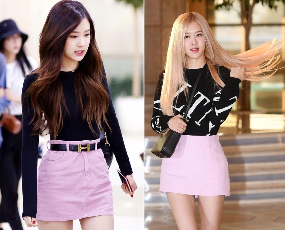 Cách phối váy hồng với áo đen